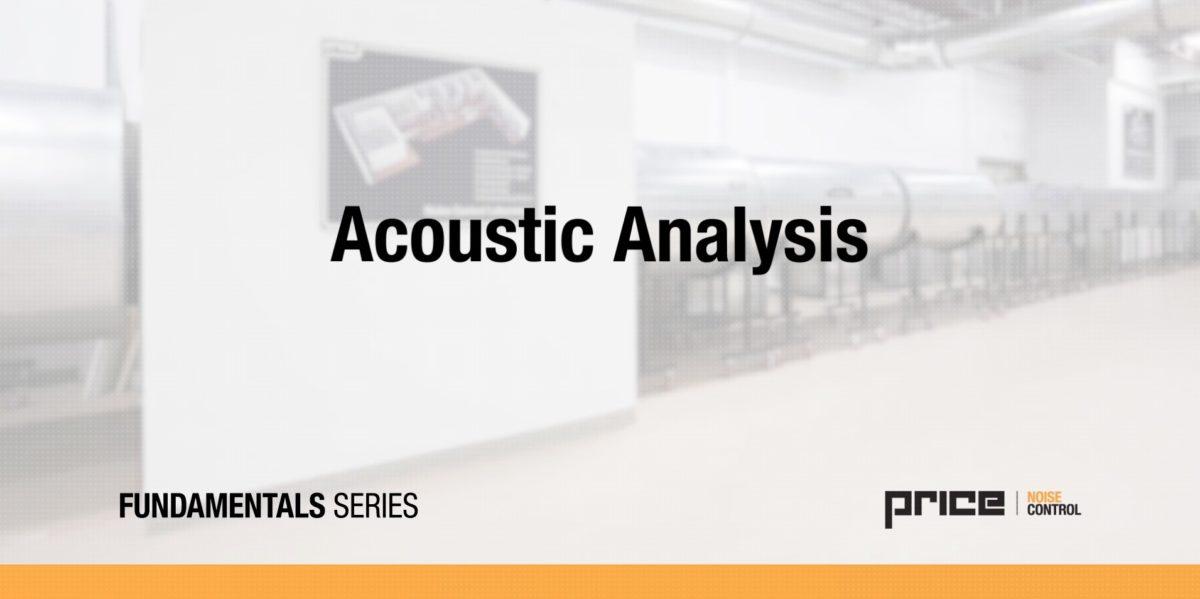 Price Acoustic Analysis